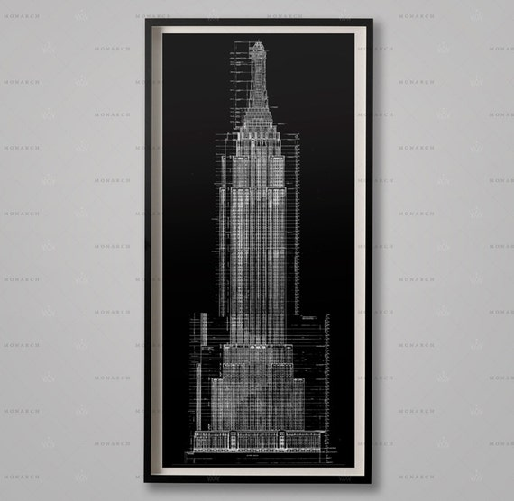 Empire state building blueprints architecture plans malvernweather Images