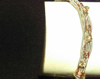 Sale! Guitar String and Swarovski Crystal Bracelet