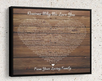reasons why i love you wooden wall art sentimental gifts for her christmas gifts for husband 50th anniversary gifts for parents love