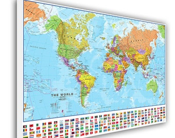 Large world map etsy push pin world map large world map push pin map for home or office decoration framed world map ready to hang stretched world map gumiabroncs Images