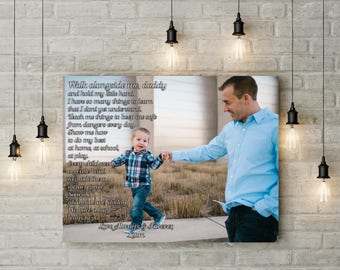 Fathers Day Gift From Son Father Poem Kids Gifts For Dad Walk With Me Daddy Birthday