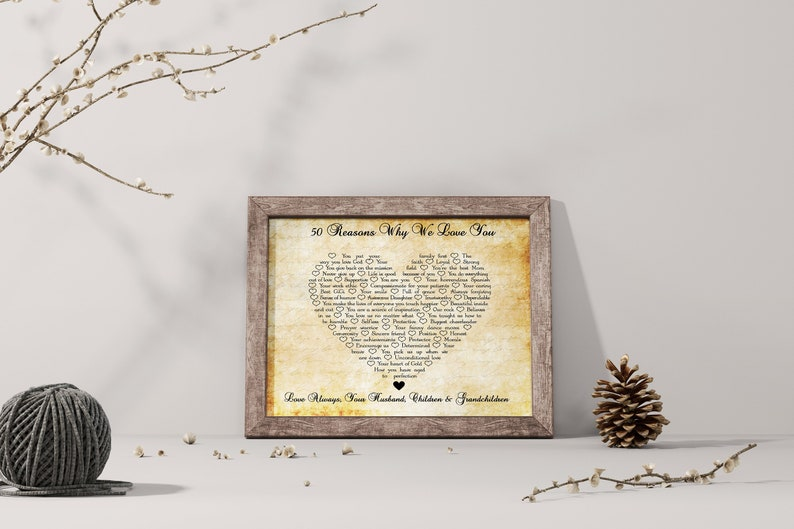 Reasons Why I Love You Wood Signs Sentimental Gifts For Mom