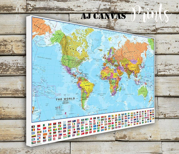 World Map Large World Map Push Pin Map For Home Office | Etsy