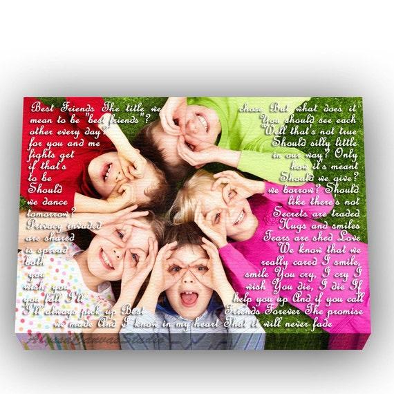 Best Friends Quotes Lyrics Custom Friendship Gift For Kids Etsy