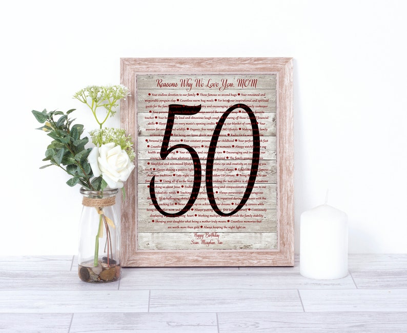 50th Birthday Gifts For Her 50 Reasons We Love You
