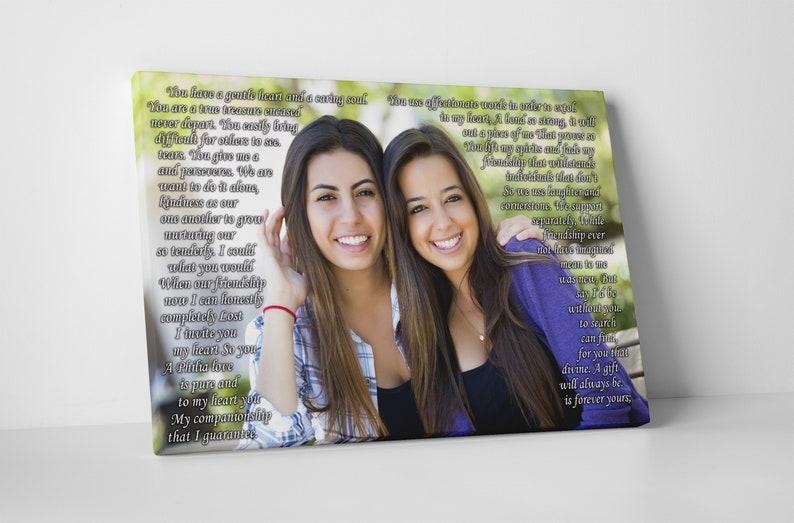 Sister Photo Gift Best Friend Birthday Sentimental