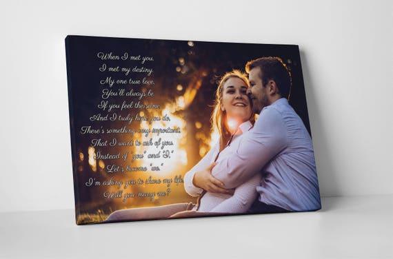 Custom Girlfriend Gift Fiance Ideas Valentines For