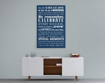 Personalized canvas print housewarming gift with your own family rules