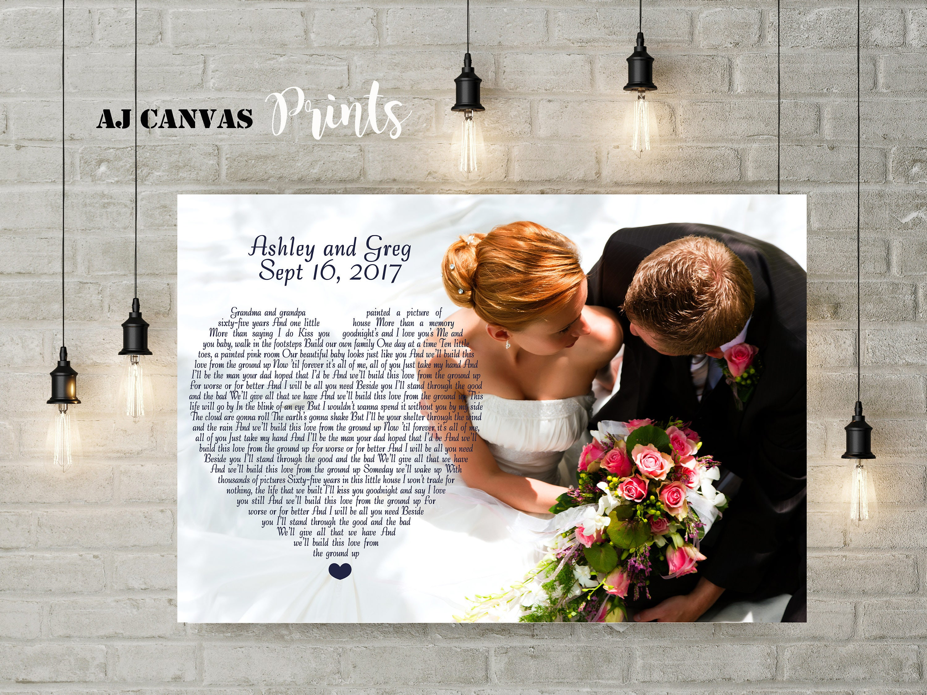 Personalized meaningful wedding gifts first dance song words  55ae81b2d0