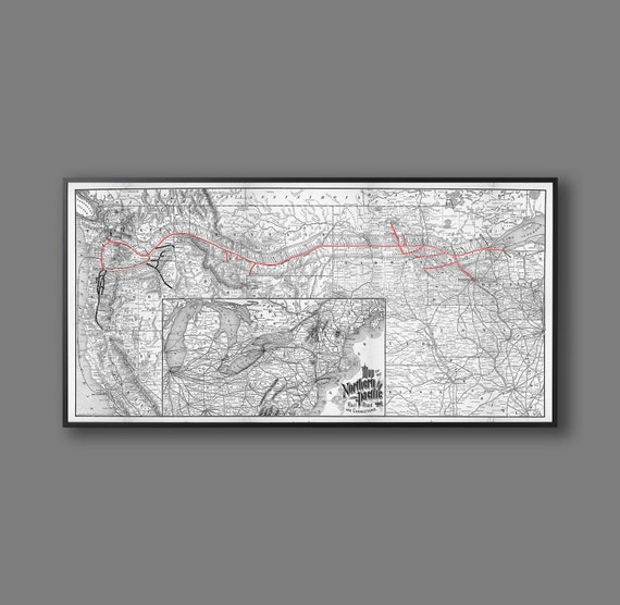 Northern Pacific Railway Map, Vintage Trains, Map of the Northern Railway, on map of trains in illinois, map of trains in barcelona, map of trains in paris, map of trains in new york, map of trains in tokyo, map of trains in boston,