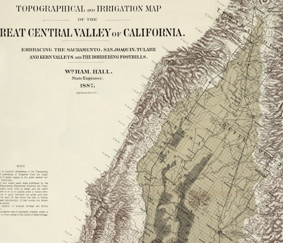 Central Valley California Map, Vintage California, Map of Central Valley on map of central valley ca, map of england valleys, map of israel valleys,