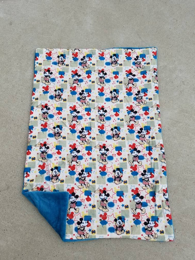 Mickey Mouse Receiving Blanket Blue Mickey Mouse Baby image 0