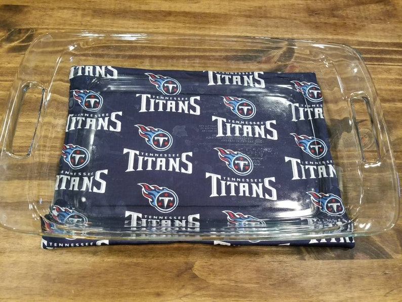 Tennessee Titans 9x13 Casserole Dish Hot Pad Football Themed image 0