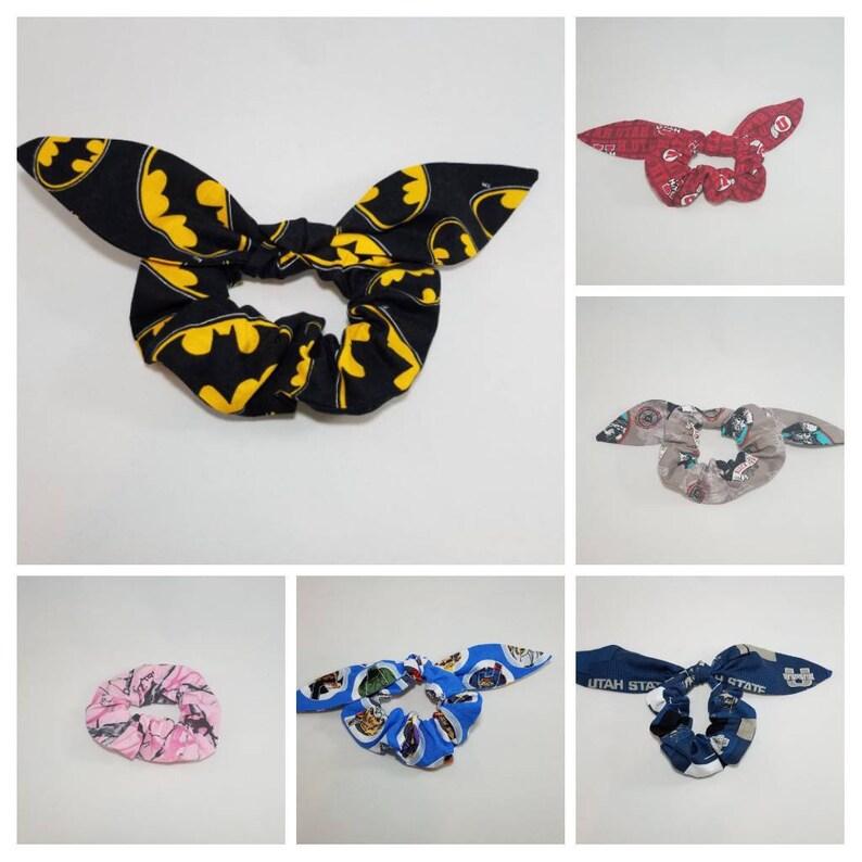 Bow Hair Scrunchie Hair Accessories Batman Hair Scrunchie image 0