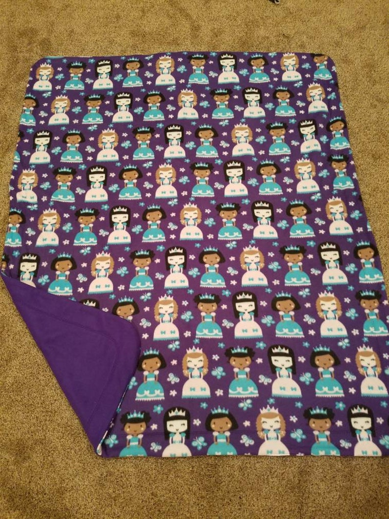 Purple Princess Blanket Purple Sewn Fleece Blanket Girl image 0