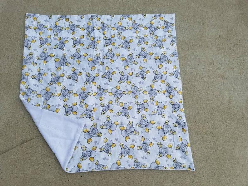 White Elephants Receiving Blanket White Baby Receiving image 0