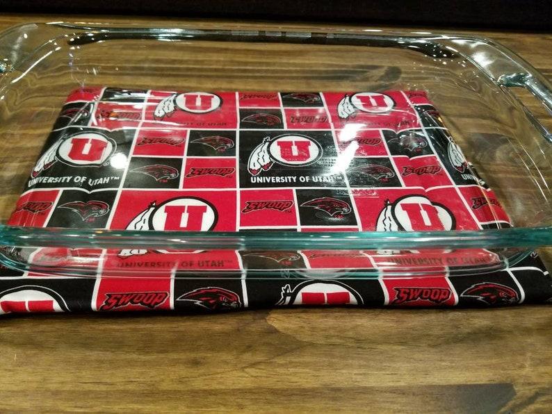 Utah Utes 9x13 Casserole Dish Hot Pad Tailgating Themed Hot image 0