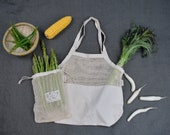 Bristlegrass Organic Cotton Produce Bags - 3 Piece Set, Zero Waste, Eco-Friendly, Biodegradable