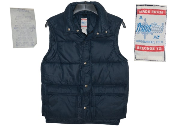 Vintage Frostline 70's Navy Blue Puffy Vest That 7