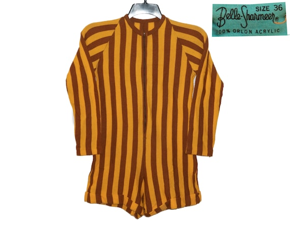 Vintage Brown and Golden Yellow Striped Belle-Shar