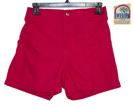 Vintage Weeds Fuschia Pink Shorts 100% Cotton Size