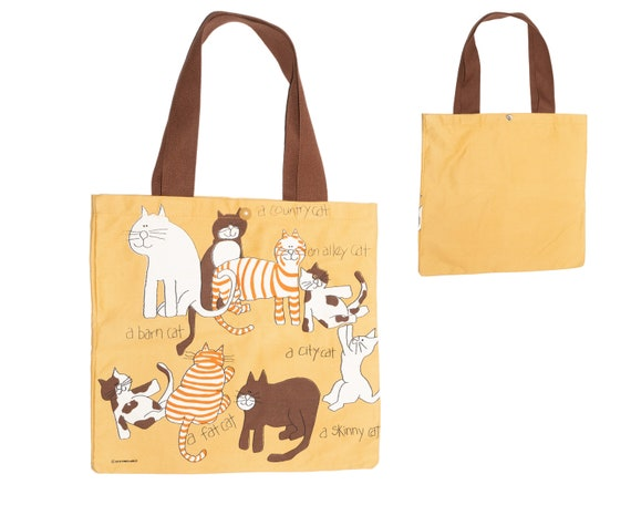 Vintage Free Lance 1978 Cat Tote A Country Cat A B