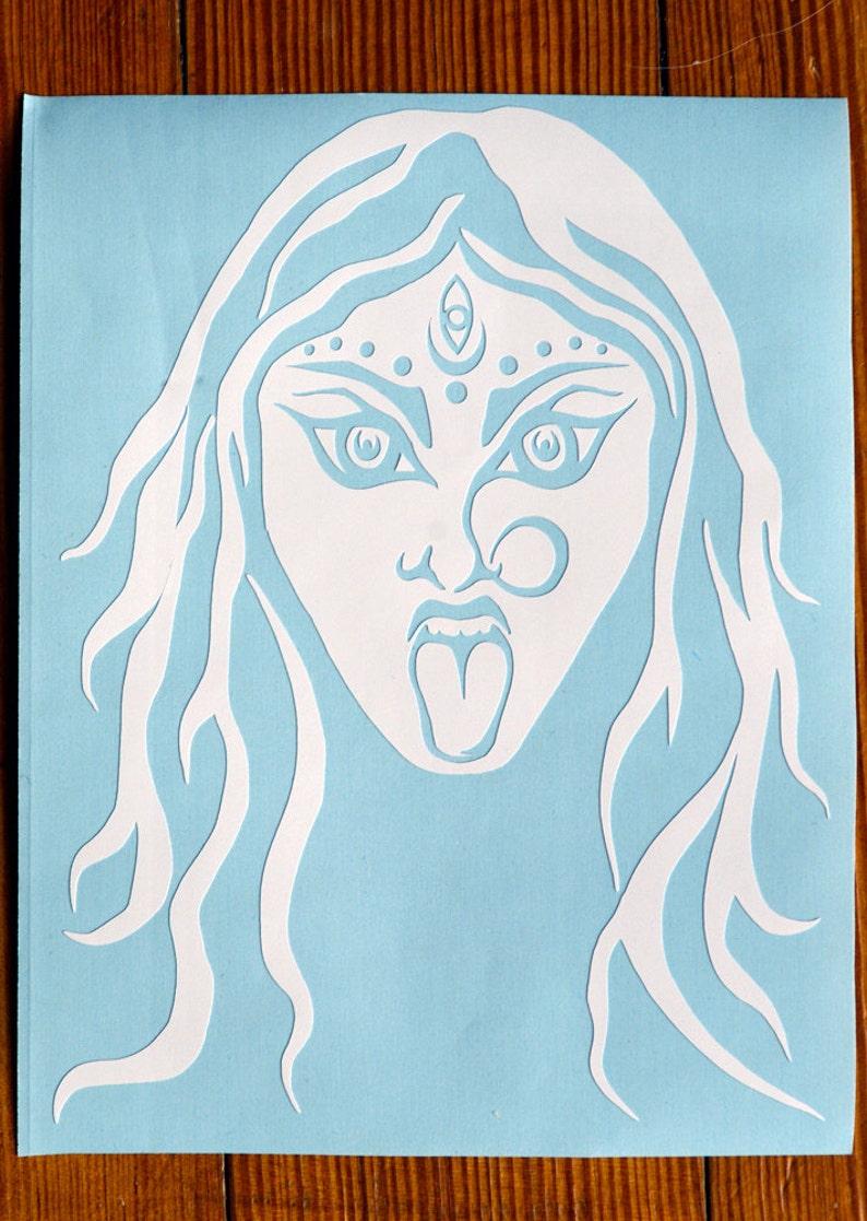 Kali Hindu Goddess Vinyl Decal