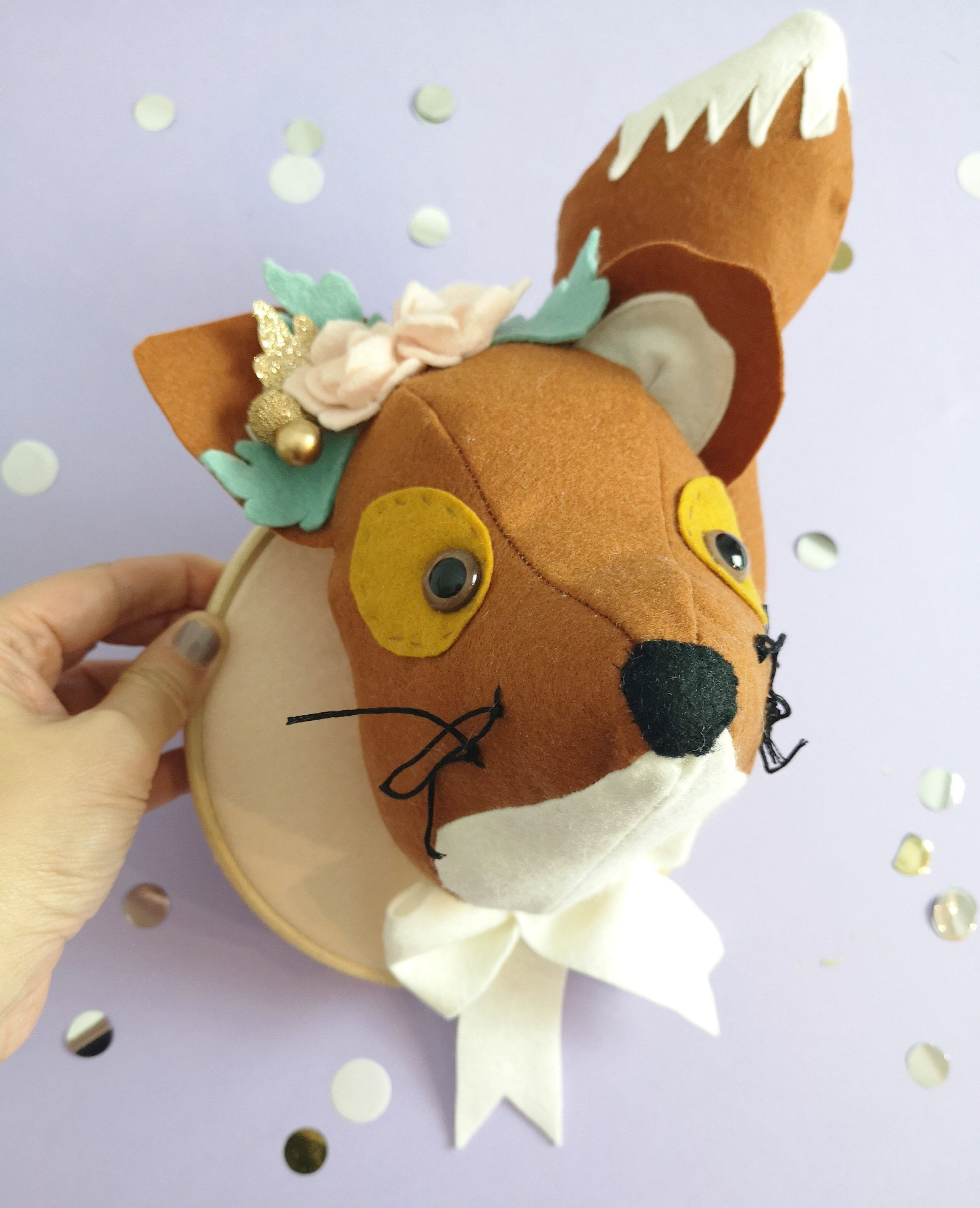 Fox Head Wall Mount Stuffed Animal Head Woodland Animal Etsy