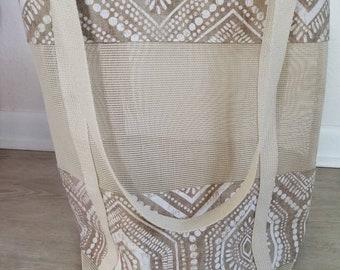 Beach bag, mesh beach bag, tote bag, beach tote, vinyl mesh bag, mesh bag beach, tote bag canvas, tote bag for women, seashell tote bag