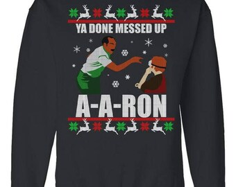 more colors ya done messed up a a ron ugly christmas sweater