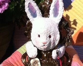 White Rabbit    Reconstruction Assemblage Sculpture