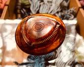 Vintage Bakelite Tortoiseshell Button. Brass OME.