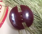 Fabulous Vintage Deco Button. Quirky Shape.