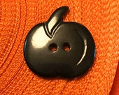 Bakelite Realistic Pumpkin. Black.