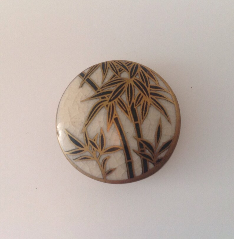 Vintage Satsuma Buttons. Bamboo. image 0