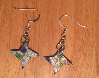Origami Ninja Star Earrings