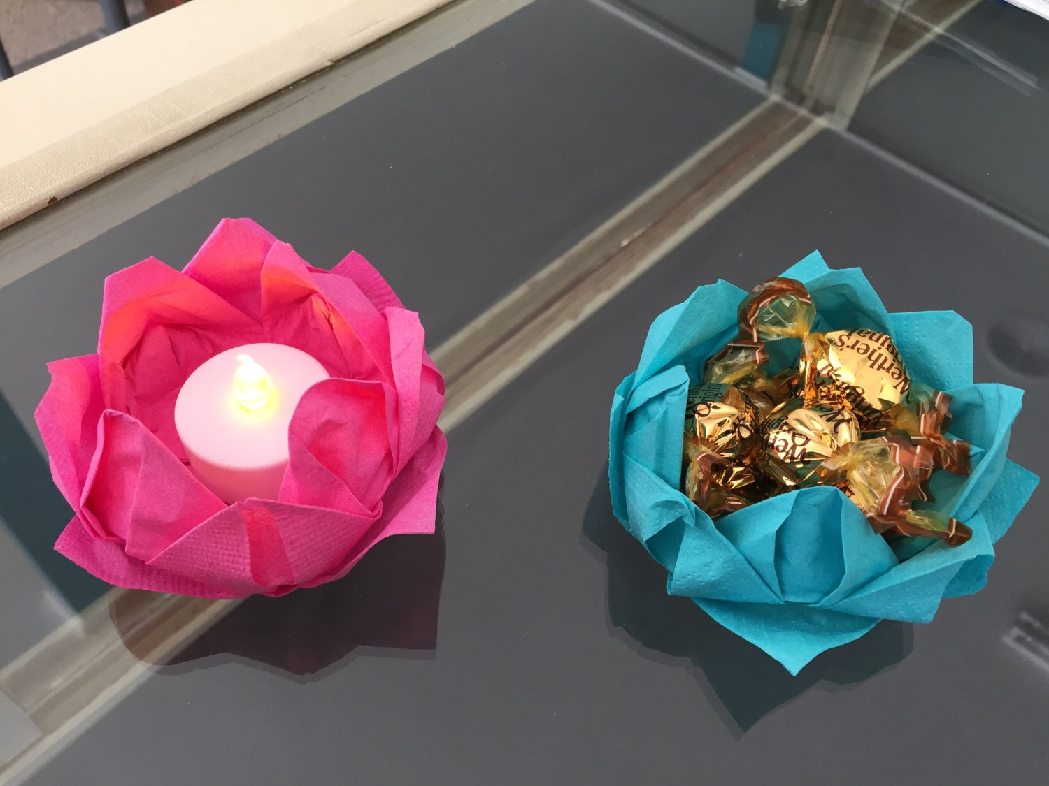 Origami Lotus Flower Decorations Etsy