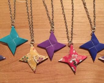 Origami Ninja Star Necklace