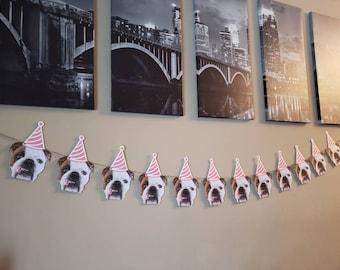 Personalized Photo banner, first birthday banner, bridal shower, face banner, photo birthday banner, dog birthday. Cat dog decorations,