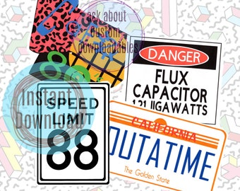 Back to the future party sign, back to the future decotrations, birthday party ideas, adult party ideas, Birthday party ideas