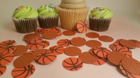 basketball confetti basketball party decorations sports etsy