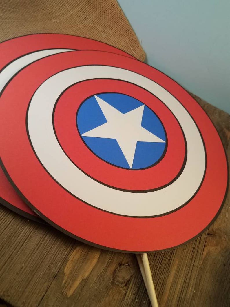 captain america shield captain america party supplies avengers props captain america birthday decorations super hero baby shower