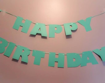 Happy Birthday banner, any color banner, persnalized birthday banner, kids party banner, custom birthday banner, custom party banner,