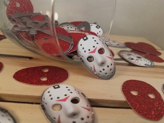 Friday The 13th Party Decorations Halloween Party Decorations Halloween Cupcake Toppers Friday The 13th Confetti Horror Decorations