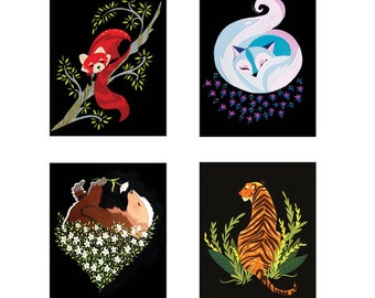 Fab Stationary Cards Pack - Birds & Animals