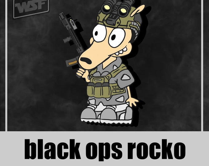 Featured listing image: Black Ops Rocko - PVC Morale Patch