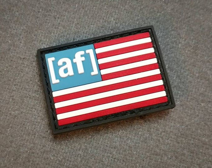 Featured listing image: American AF - Mini PVC American Flag Patch