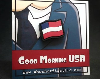 Good Morning USA - Patch and Pin