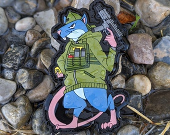 Hood Rat Series - Fink - Limited Edition PVC morale patch