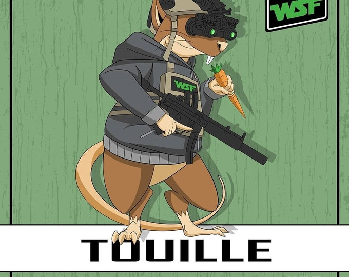 Featured listing image: Hood Rat Series - Touille - PVC Morale Patch